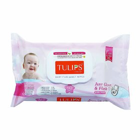 Tulips Baby Care Wet Wipes (60 Wipes)