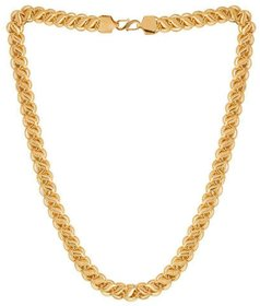 Jewar Mandi Chain Gold Plated Brass & Copper Link Chain Daily Use Jewelry For Men Boys 8233