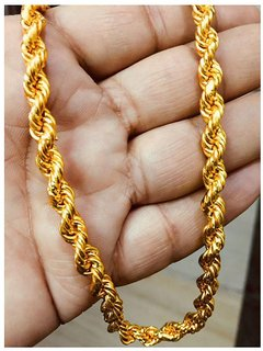 Jewar Manid Chain Gold Plated Brass  Copper Rope/Rassi Chain Daily Use Jewelry For Men  Boys 8231