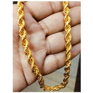 Jewar Manid Chain Gold Plated Brass  Copper Link Chain Daily Use Jewelry For Men  Boys 8232