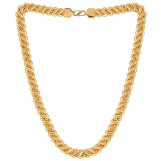 Jewar Manid Chain Gold Plated Brass  Copper Link Chain Daily Use Jewelry For Men  Boys 8233