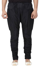 DISONE Black Silk Harem Pant for Mens