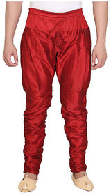 DISONE Red Silk Harem Pant for Men