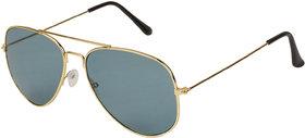 Arzonai Classics Aviator Golden-Green UV Protection Sunglasses For Men & Women |MA-095-S17|