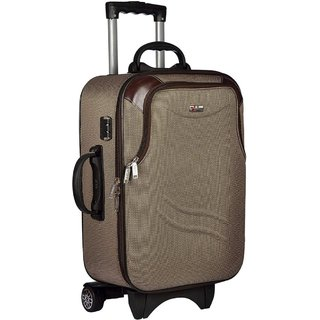 Glorious Beige M( Between 61cm-69cm) Cabin Hard Executive Double Shell Expandable 24 INCH Luggage