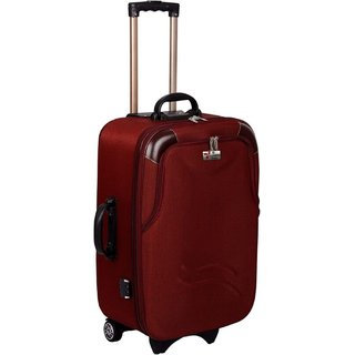 Glorious Maroon M( Between 61cm-69cm) Cabin Hard Executive Double Shell Expandable 24 INCH Luggage