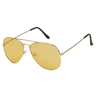 Arzonai Classics Aviator Golden-Yellow UV Protection Sunglasses For Men & Women |MA-095-S10|