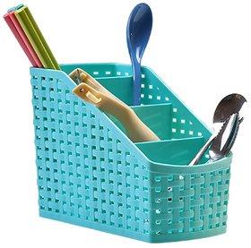 New Plastic 4 Compartment Utensils Holder for Spoons, Knives, Forks, Chopsticks Shakers