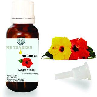 MB Traders Hibiscus ( Hibiscus Rosa-Sinensis ) Essential Oil - 100 Pure, Natural  Undiluted15 ML