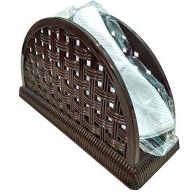 Napkin Holder, Dining Table Napkin Organizer, Best Tissue Holder Stand Made of Plastic (Color May Vary).