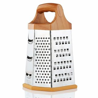 6-Sided Stainless Steel Grater and Slicer