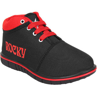 Bersache boy (kids) black 1123 casual sneakers loafer sports boots shoes