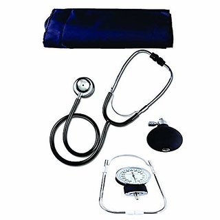 Recombigen Medical student aneroid sphygmomanometer Dial Blood Pressure Monitor With stethoscope