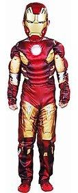 Ironman Muscles Avenger Costume Fancy Dress For Kids