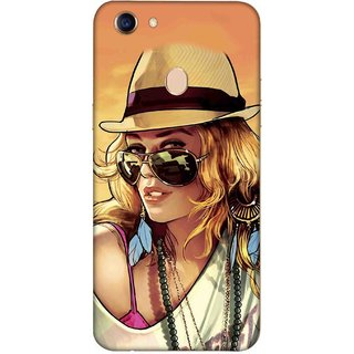 Digimate Printed Designer Soft Silicone TPU Mobile Back Case Cover For Oppo F5 Design No. 0182