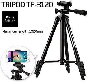 TIK TOK TRIPOD MOBILE CAMERA STAND (SPECIALLY FOR TIK TOK USERS - BLACK EDITION 3120 )