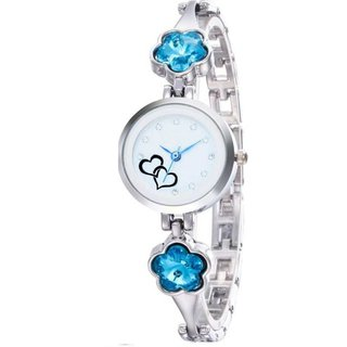 SEA BLUE BLOSSOM FANCY FASHIONABLE DESIGNER BRACELET FANCY FASHIONABLE DESIGNER BRACELET beautiful collection women and ladies Watch - For Girls New Collection 2019