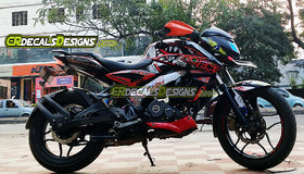CR Decals PULSAR NS 200/160 Full Body Wrap/Custom Decals/Stickers VR 46 SHARK 46 PROJECT Kit-RED