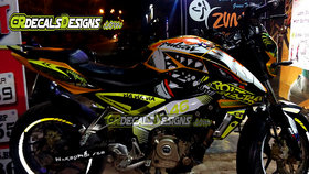 CR Decals PULSAR NS 200/160 Full Body Wrap/Custom Decals/Stickers VR 46 SHARK 46 PROJECT Kit-YELLOW