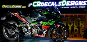 CR Decals PULSAR RS 200 Custom Decals/Stickers/Wrap Full Body YAKUZA Edition Kit