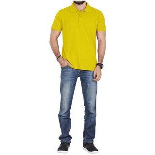 Lotto Men's Yellow Polo Collar T-shirts