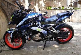 CR Decals PULSAR NS 200/160 Full Body Wrap/Custom Decals/Stickers VR 46 SHARK 46 PROJECT Kit-BLUE