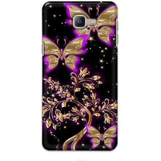 Ezellohub Mobile Back Cover For Samsung Galaxy A9 Pro 2016 - butterfly in black Soft silicon Mobile cover