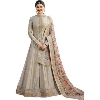 Amyra Creations Pure Georgette Biege & Red Designer Salwar