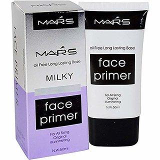 Mars Oil Free Long Lasting Milky Face Primer 50 Ml For All Skin Types