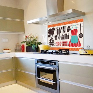 Jaamso Royals Removable Kitchen Oil Proof Decal Sticker Heat-Resistant Waterproof Tile Sticker Aluminium Foil wall Sticker ( Glass  Tableware) (60 CM  90 CM)