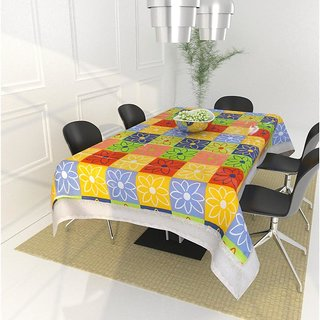 Crosmo PVC Printed Dining Table Cover (40 x 60 inches), Multi