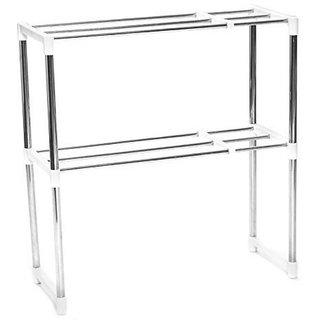 Adjustable Multifunctional Microwave Oven Shelf Rack by House of Quirk for Multifunction Telescopic Framework Rack