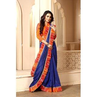 Pari Designerr Sanna Silk Ruffle Saree With Printed Blouse(Saniya)