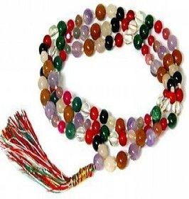 Jaipur Gemstone Natural Mix Sulemani Hakik Beads mala