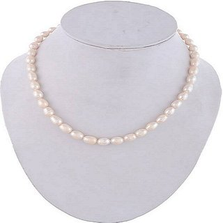 Natural Pearl Mala IGL Certified Stone Pearl/Moti Mala By Jaipur Gemstone