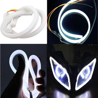 Andride Flexible 30Cm Audi / Neon Led Tube With Flash For All Bikes And Cars - White