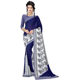 Pari Designerr Georgette Printed Saree With Blouse(K.K.MIX)