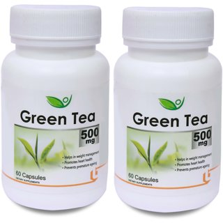 Biotrex Green Tea 500 mg (60 Capsules) - Pack of 2