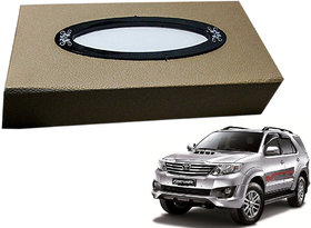 Auto Addict Car Tissue Beige Leatherite Box with 200 Sheets(100 Pulls) Vehicle Tissue Dispenser (Beige) For Toyota Fortuner