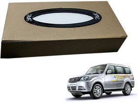 Auto Addict Car Tissue Beige Leatherite Box with 200 Sheets(100 Pulls) Vehicle Tissue Dispenser (Beige) For Tata Sumo Grand