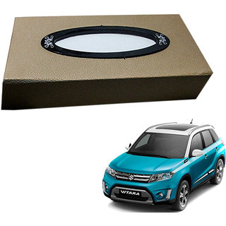 Auto Addict Car Tissue Beige Leatherite Box with 200 Sheets(100 Pulls) Vehicle Tissue Dispenser (Beige) For Maruti Suzuki Vitara Brezza