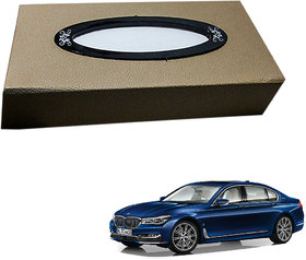 Auto Addict Car Tissue Beige Leatherite Box with 200 Sheets(100 Pulls) Vehicle Tissue Dispenser (Beige) For BMW 7 Series