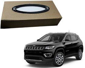 Auto Addict Car Tissue Beige Leatherite Box with 200 Sheets(100 Pulls) Vehicle Tissue Dispenser (Beige) For Jeep Compass
