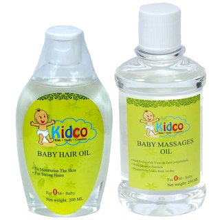 Kidco Baby Hair and Massage Oil Combo