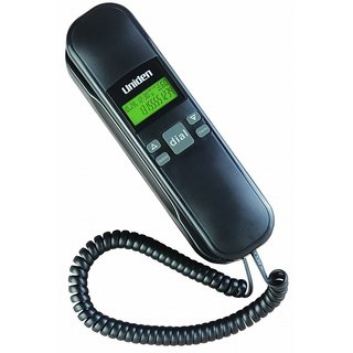 UNIDEN AS 7103 Black Corded Landline Phone with Trimline Caller ID FSK/DTMF