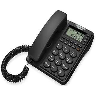 UNIDEN CE6409 Black Corded Landline Phone with Speakerphone Caller ID FSK / DTMF