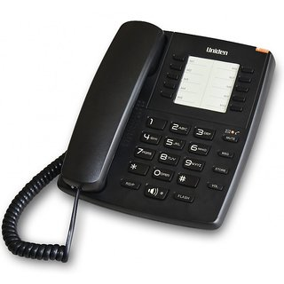 UNIDEN AS7301 Black Corded Landline Phone with Speakerphone