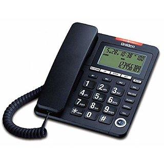 UNIDEN AS7408 Black Corded Landline Phone with Speakerphone Caller ID
