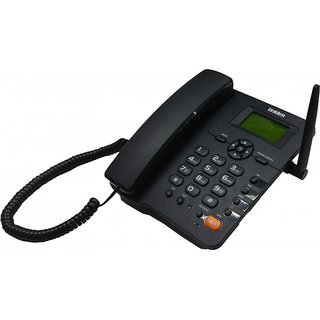 UNIDEN FWP001 Black Corded GSM SIM Phone with Speakerphone Caller ID