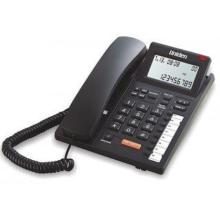 UNIDEN AS7411 Black Corded Landline Phone with Speakerphone Caller ID